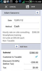 record sales receipts and payments on your smartphone